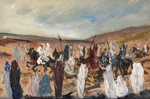 Louis ALBAN - Pintura - Cavaliers orientaux