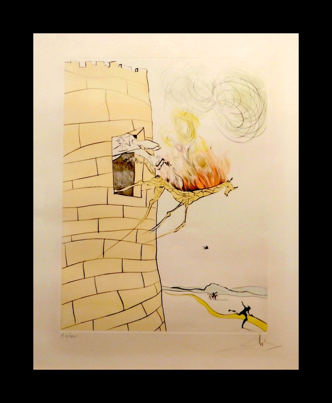 Salvador DALI - Grabado - After 50 Years of Surrealism The Grand Inquisitor
