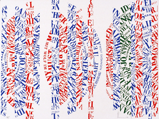 Ferdinand KRIWET - Estampe-Multiple - Sehtext-Collage