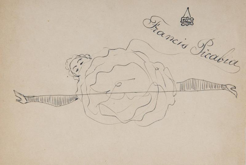 Francis PICABIA - Dessin-Aquarelle - Danseuse de French cancan