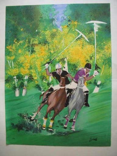 Victor SPAHN - 版画 - Le Polo,1990.