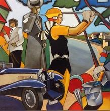 Stéphane GISCLARD - Pintura - Sur le green