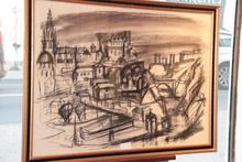 "Franz PRIKING (1929-1979) - Franz PRIKING  ""Quartier du vieux port en Espagne"""