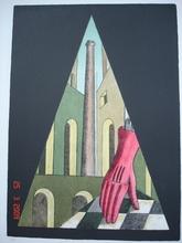 Giorgio DE CHIRICO - Grabado - Il guanto rosso