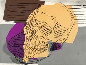 安迪·沃霍尔 - 版画 - Skulls