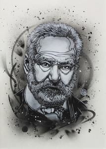 C215 - Zeichnung Aquarell - Victor Hugo