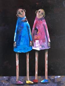 Pascal MARCEL - Painting - Main dans la main