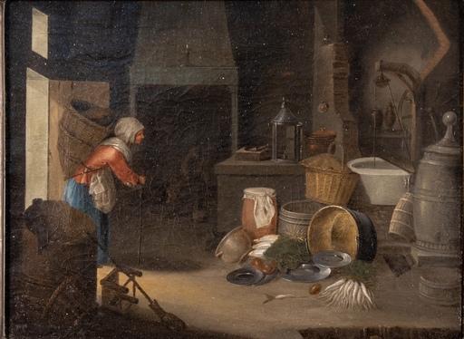 Cornelis DUSART - Pintura - Flemish Painting Credited to Cornelis Dusart