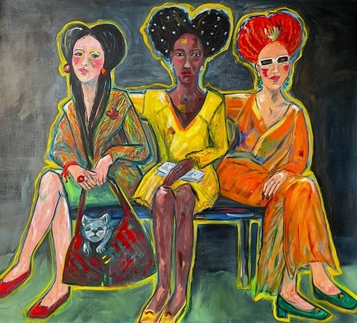 Antje SCHLAUD - Painting - Die GUCCI Girls