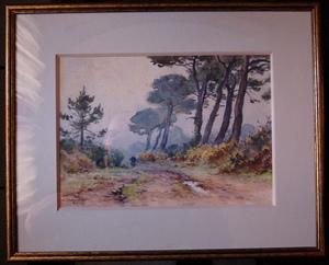 Léon HAMONET - Drawing-Watercolor - Erquy/ Le Guen
