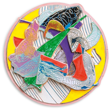 Frank STELLA - Peinture - Plutusia I