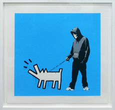 BANKSY - Estampe-Multiple - Choose Your Weapon (Sky Blue)