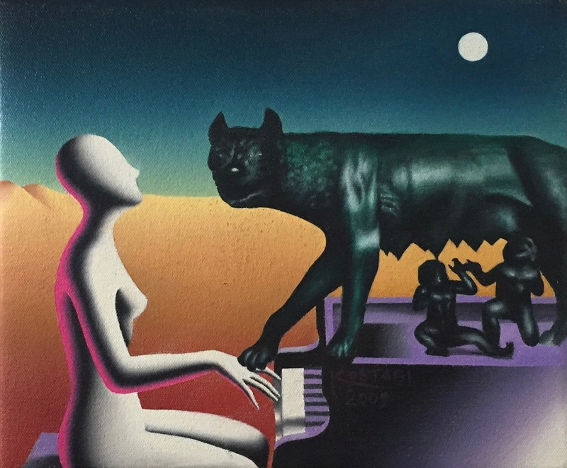 Mark KOSTABI - Pintura - Terra di mezzo