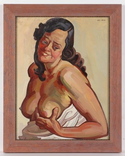 """Josef LACINA - Gemälde - """"Female Nude (Artist's Wife)"""", 1950s, Oil"""