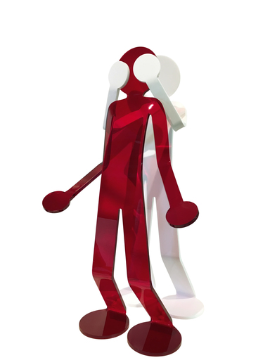 David ZELLER - Escultura - Flexo Diptyque Rencontre Inattendue (moyen)