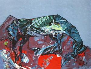 Kiro URDIN - 版画 - Le cheval