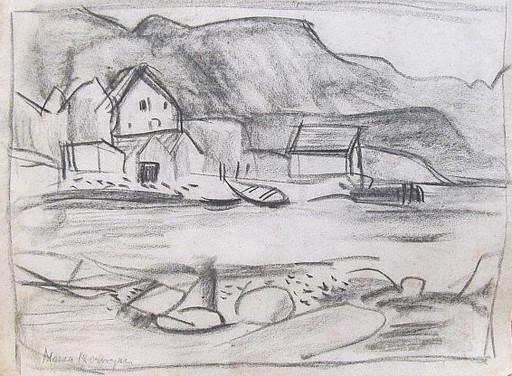 Erich HARTMANN - Dessin-Aquarelle - #19987: Nessa - Norwegen.
