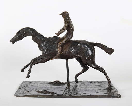 埃德加•德加 - 雕塑 - Cheval au galop sur le pied droit, le pied gauche arrière se