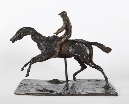 Edgar DEGAS - Skulptur Volumen - Cheval au galop sur le pied droit, le pied gauche arrière se