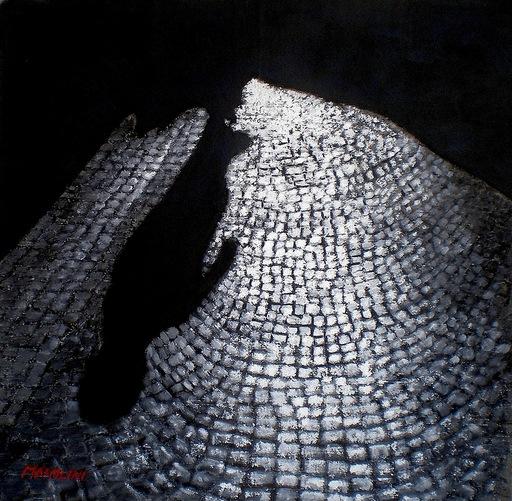 Carlo MAIOLINI - Peinture - Ombre Portée