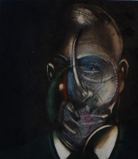 Francis BACON - Stampa-Multiplo - Portrait of Michel Leiris