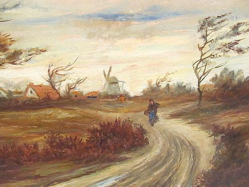Fritz FLINTE - Pittura - Abend im Moor ( Worpswede )