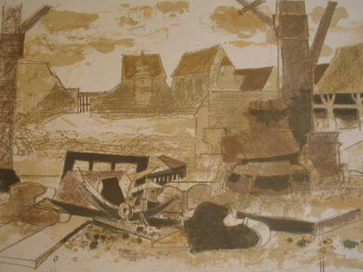 Michel RODDE - 版画 - La ferme,1978.