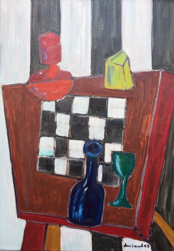 Christian DURIAUD - Pintura - Le damier