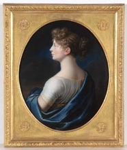 Johann Heinrich SCHRÖDER - Painting - Queen Luise of Prussia, Famous Pastel, ca. 1800