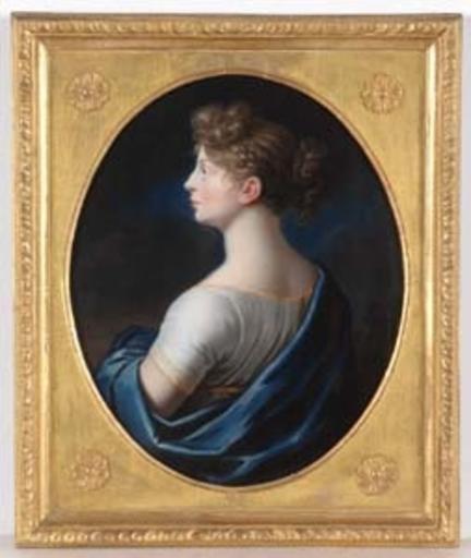 Johann Heinrich SCHRÖDER - Gemälde - Queen Luise of Prussia, Famous Pastel, ca. 1800