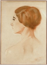 Sinaida Jewgenewna SEREBRJAKOWA - Drawing-Watercolor - Portrait of ballerina Tamara Karsavina