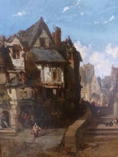 Jules Achille NOËL - Painting - Vieille ville bretonne