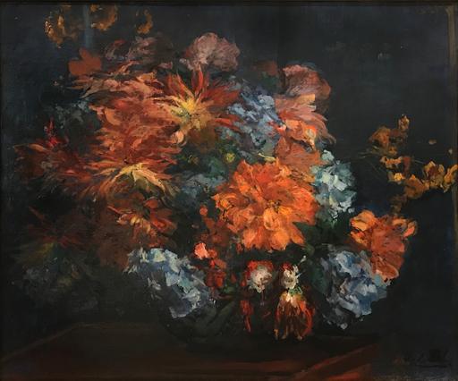 Jacques-Émile BLANCHE - Peinture - Vase de Fleurs