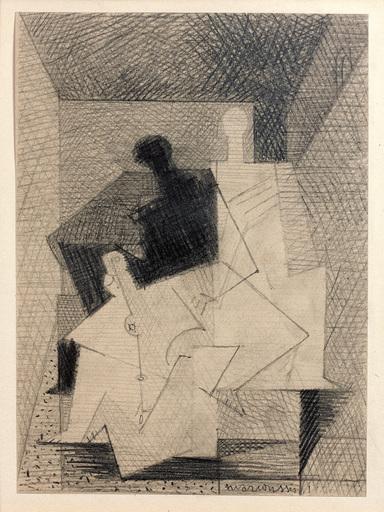 Louis MARCOUSSIS - Drawing-Watercolor - Les trois femmes (Étude pour Aurélia)