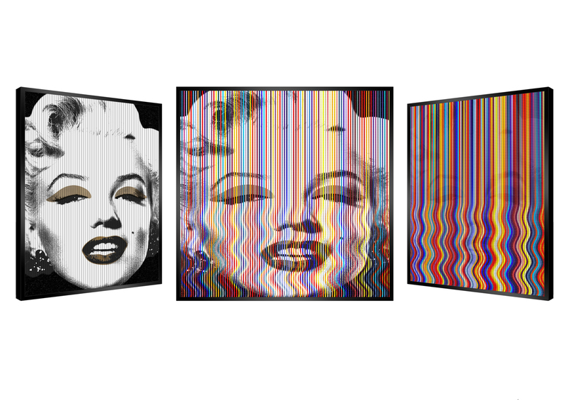 Patrick RUBINSTEIN - Painting - Wiggly Marilyn