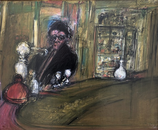 David AZUZ - Gemälde - Le bistrot