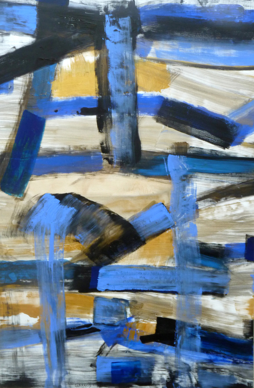 François GARROS - Pittura - Grande fresque bleue III