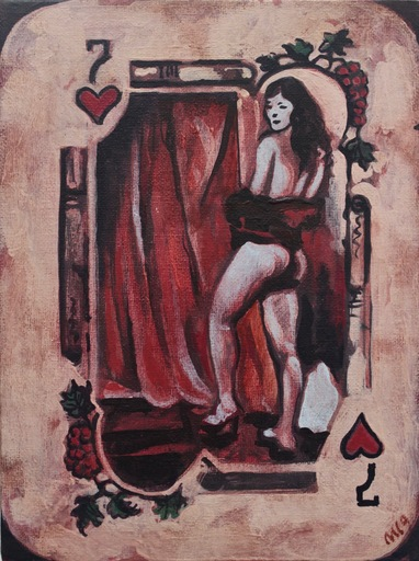 Damir MURATOV - Painting - Seven Of Hearts