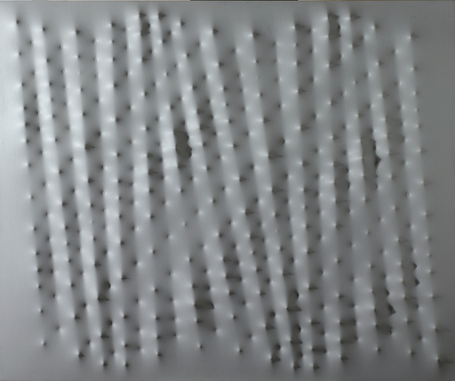 Enrico CASTELLANI - Pittura - Superficie grigia