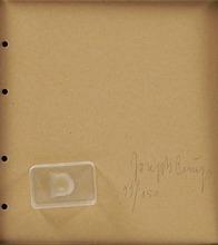 Joseph BEUYS - Estampe-Multiple - FINGERNAIL IMPRESSION FROM HARDENED BUTTER