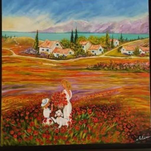 Jean-Claude LELIEVRE - Peinture - coquelicots