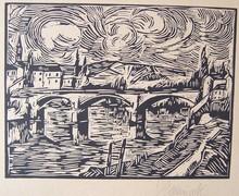Maurice DE VLAMINCK (1876-1958) - Le pont à Chatou