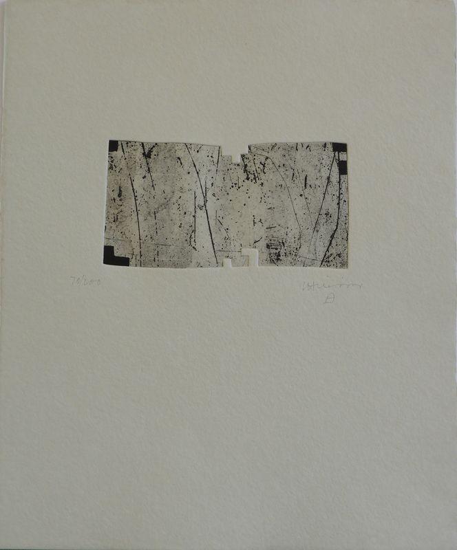Eduardo CHILLIDA - Print-Multiple -  Clara Janés: la indetenible quietud I