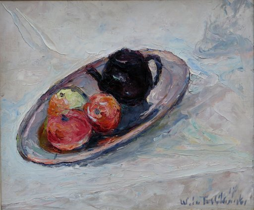 """Wlodzimierz TERLIKOWSKI - Peinture - """"NATURE MORTE A LA THEIERE"""""""