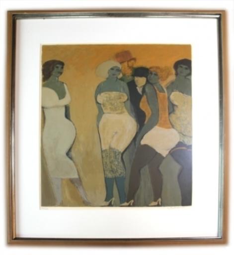 David SCHNEUER - Grabado - Prostituierte