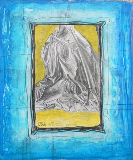 Franz Josef SCHÄFFLER - Dibujo Acuarela - Entwurfsstudie nach Da Vinci