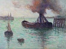 Maximilien LUCE (1858-1941) - Honfleur, l'entrée du port