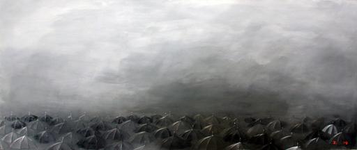 Zurab GIKASHVILI - Peinture - Umbrellas