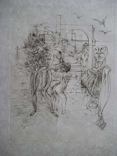 Hans BELLMER - Grabado - GRAVURE 1972 SIGNÉE AU CRAYON NUM/LXX HANDSIGNED ETCHING SEX