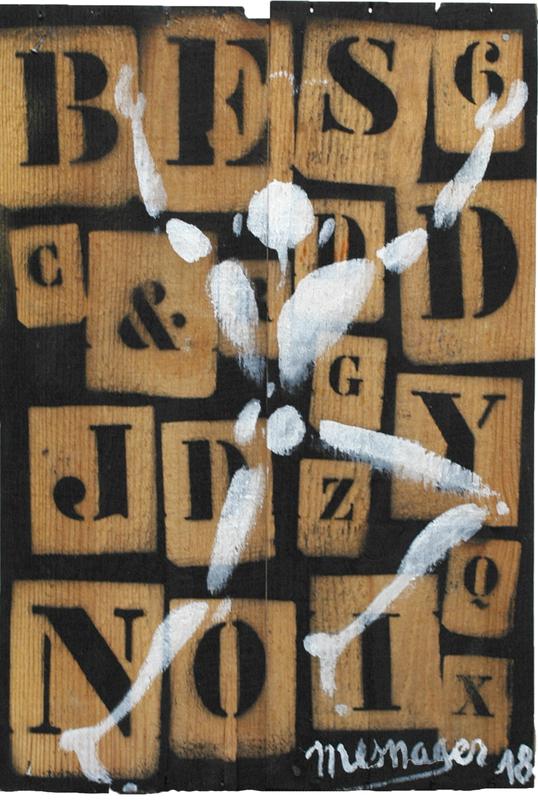 """Jérôme MESNAGER - Painting - """"Je Saute"""" (Ref 40)"""